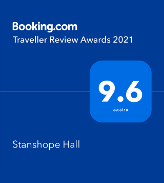 Stanshope Hall Booking.com Award of 9.6